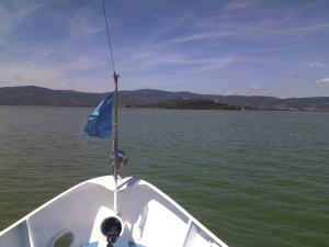 Waterbus over het Lago Trasimeno